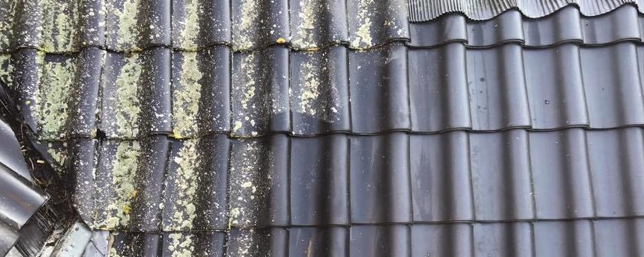 Dakreiniging door de dakdekker